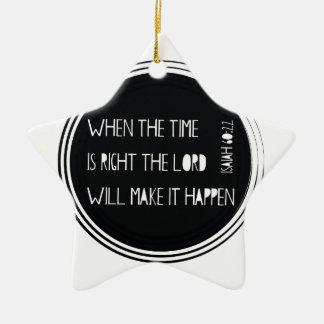 Quand le temps est exact… ornement étoile en céramique