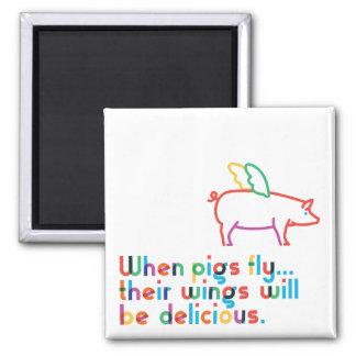 Quand les porcs volent… Aimant