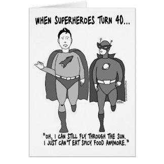 Quand les super héros tournent la carte de voeux