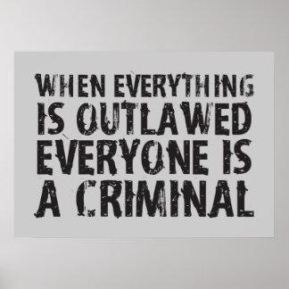 Quand tout est proscrit chacun est un criminel posters