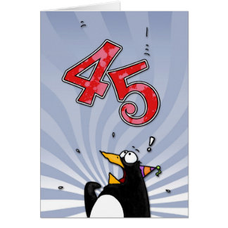 quarante-cinquième anniversaire - carte de