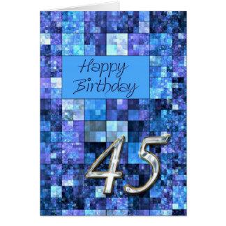 quarante-cinquième Carte d'anniversaire avec les