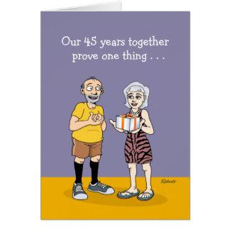 quarante-cinquième Carte d'anniversaire de mariage