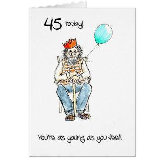 Quarante-cinquième carte d'anniversaire gaie pour