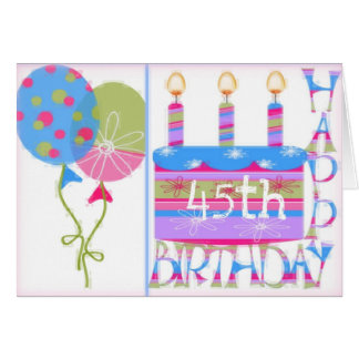 quarante-cinquième Carte de voeux d'anniversaire