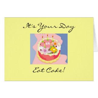 Quarante-cinquième carte de voeux de gâteau