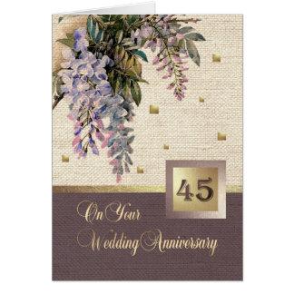 quarante-cinquième Cartes de voeux d'anniversaire