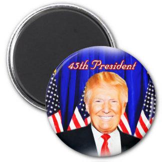 quarante-cinquième _D'atout de Président-Donald Magnet Rond 8 Cm