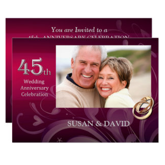 quarante-cinquième Invitations de fête