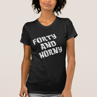 Quarante et quarantième anniversaire corné t-shirt