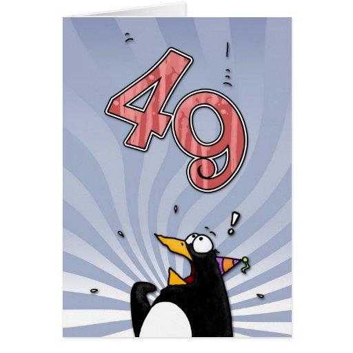 quarante-neuvième anniversaire - carte de surprise