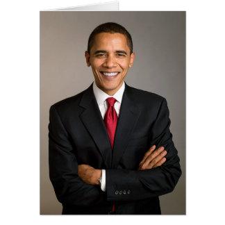 quarante-quatrième Le Président Barack Obama Carte De Vœux