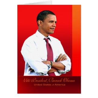 quarante-quatrième Président, Barack Obama Carte De Vœux
