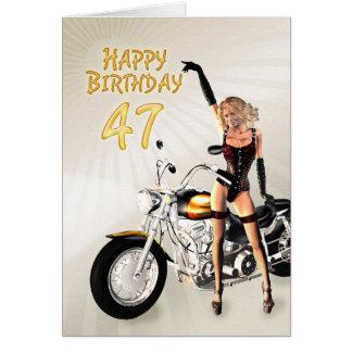 quarante-septième Carte d'anniversaire avec une
