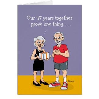 quarante-septième Carte d'anniversaire de mariage