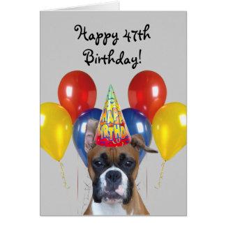 Quarante-septième carte de voeux heureuse de chien