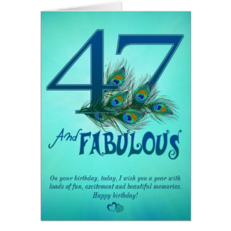 quarante-septième Cartes de modèle d'anniversaire
