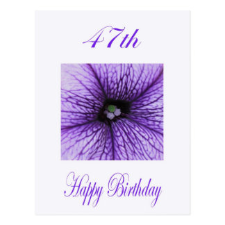 Quarante-septième fleur heureuse de pourpre carte postale