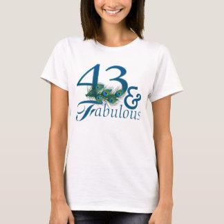 quarante-troisième T-shirts d'anniversaire