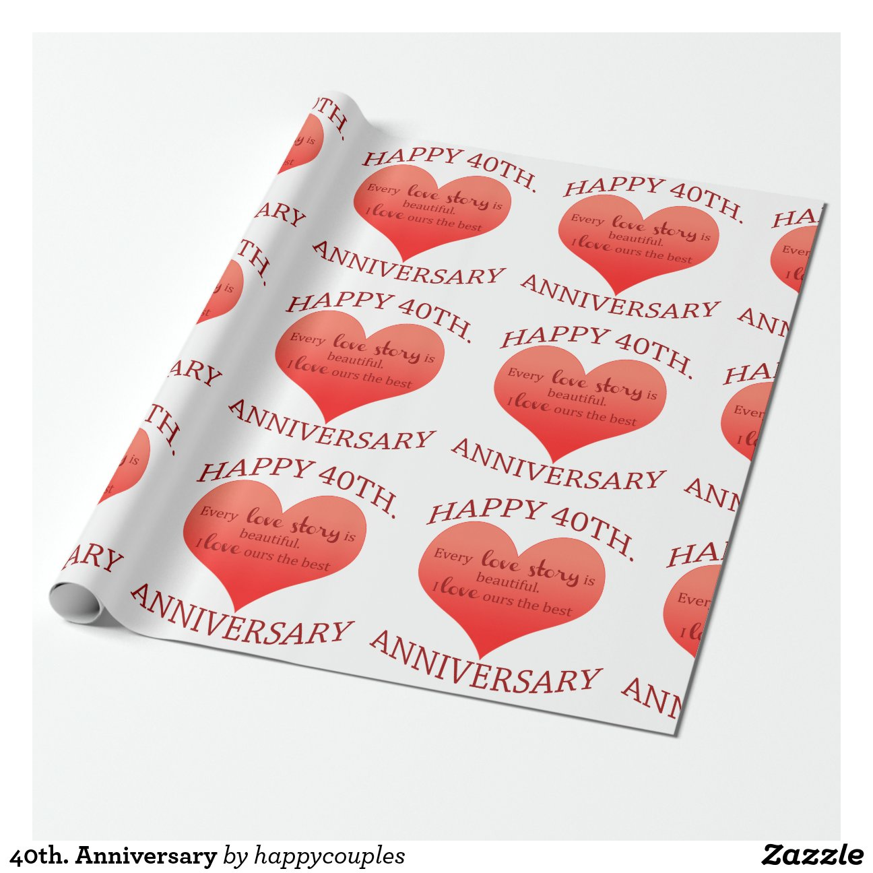 Quaranti me anniversaire papiers cadeaux zazzle - Ou acheter du papier cadeau ...