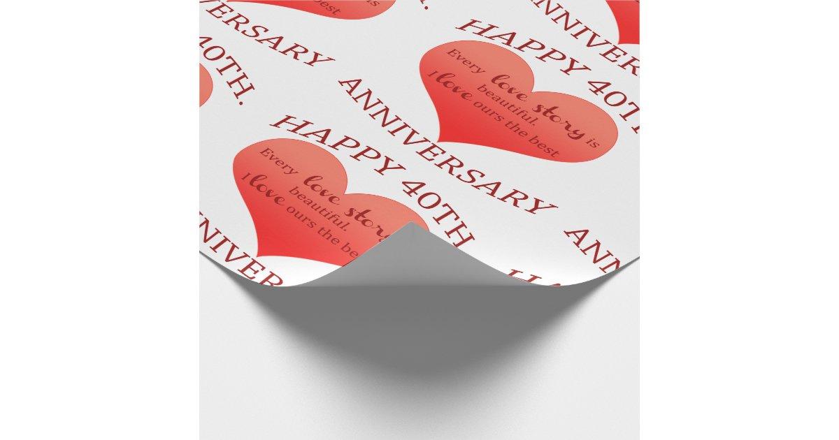 Quaranti me anniversaire papiers cadeaux zazzle - Papier cadeau personnalisable ...