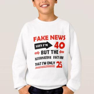 quarantième cadeaux d'anniversaire an sweatshirt