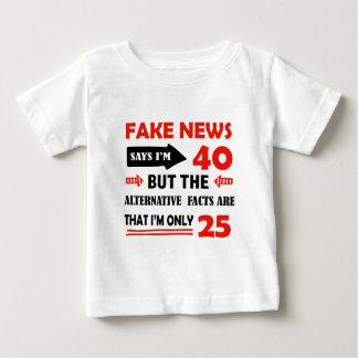 quarantième cadeaux d'anniversaire an t-shirt pour bébé