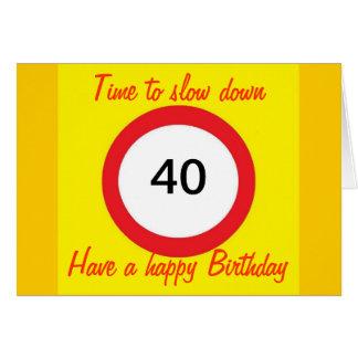 quarantième Carte d'anniversaire
