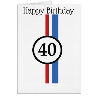 quarantième Carte d'anniversaire de Herbie