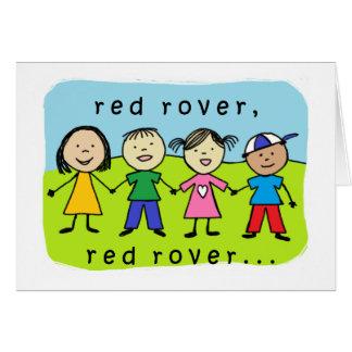 Quarantième carte d'anniversaire de vagabond rouge