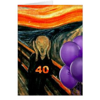 Quarantième carte d'anniversaire drôle