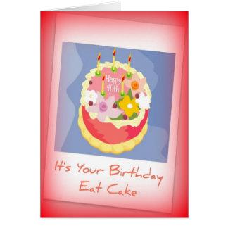 Quarantième carte d'anniversaire heureuse pour des
