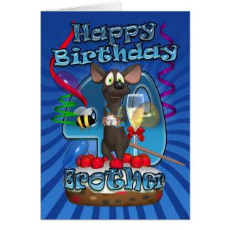 quarantième Carte d'anniversaire pour le frère -
