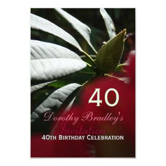 quarantième Coutume de rhododendron de célébration Faire-part