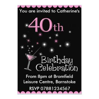 quarantième Invitation de fête d'anniversaire -