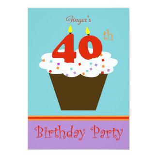 quarantième Invitation de fête d'anniversaire 40