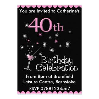 quarantième Invitation de fête d'anniversaire - ve