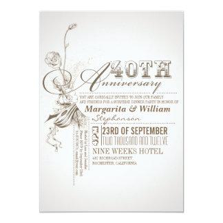 quarantième invitations d'anniversaire de belle