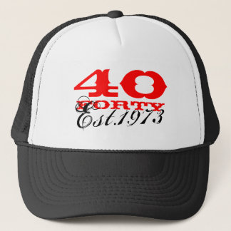 quarantième Le casquette vintage | d'anniversaire