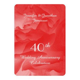 quarantième L'invitation de fête d'anniversaire de Carton D'invitation 12,7 Cm X 17,78 Cm