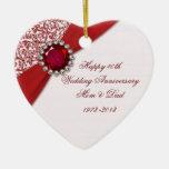 quarantième Ornement d'anniversaire de mariage