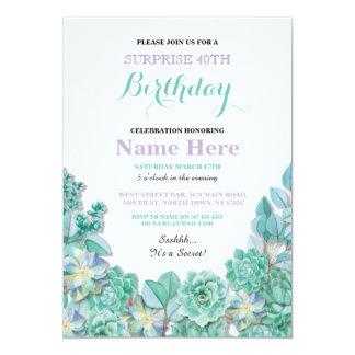 quarantième ou tout invitation blanc floral de