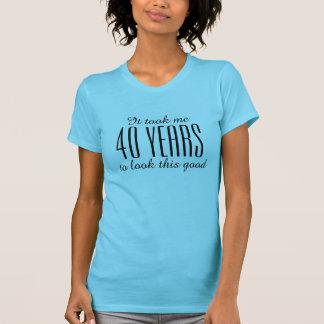 Quarantième T-shirt drôle d'anniversaire pour des