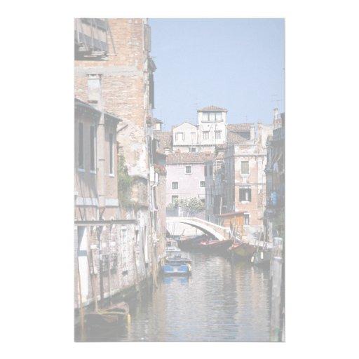 Quart résidentiel tranquille, Venise, Italie Papier À Lettre Personnalisé