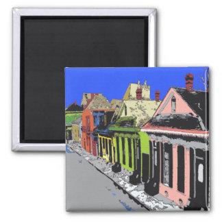 Quartier français de la Nouvelle-Orléans de cottag Magnet Carré