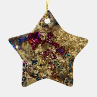Quartz luisant d'huile d'or ornement étoile en céramique