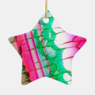 Quartz psychédélique de colorant de cravate ornement étoile en céramique