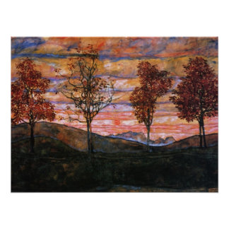 Quatre arbres poster