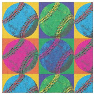 Quatre base-ball dans différentes couleurs tissu