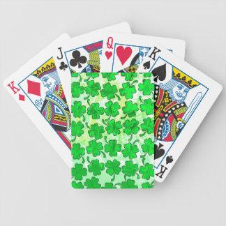 QUATRE cartes de jeu de TRÈFLES de FEUILLE Jeux De Cartes
